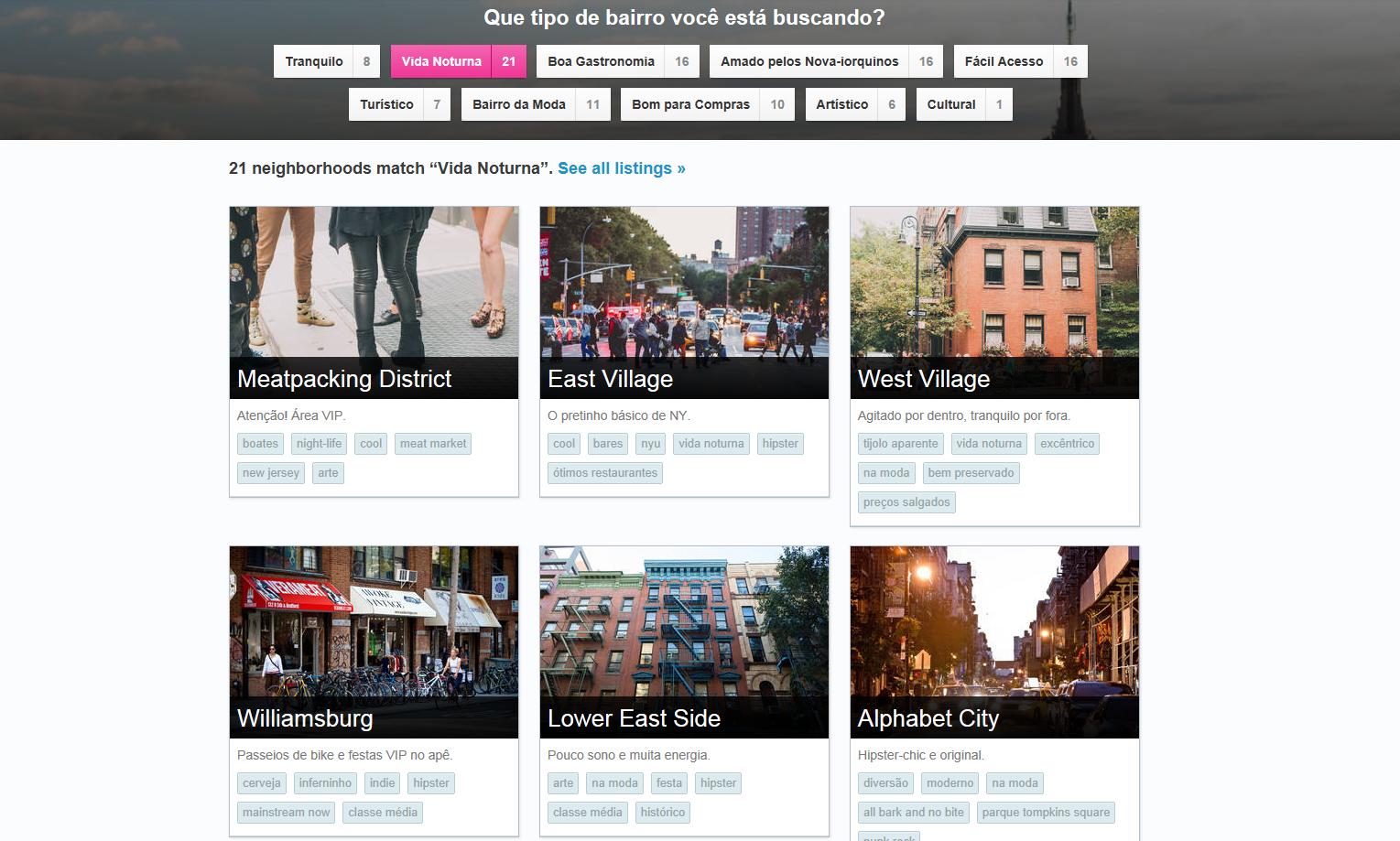 Airbnb Neighborhoods - Guia de bairros