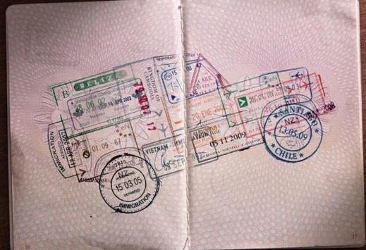 passport stamp
