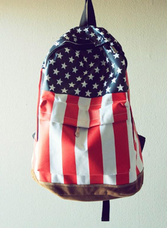 Mochila bandeira dos Estados Unidos